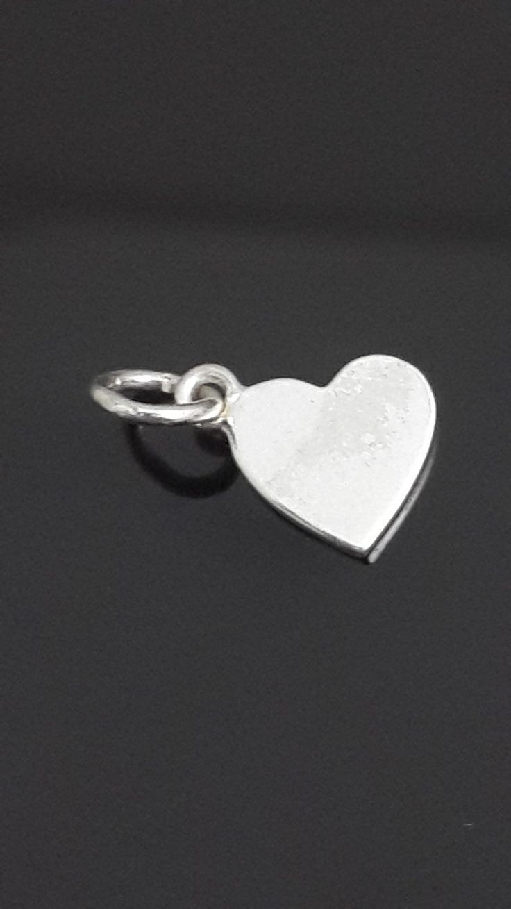 Plain simple .925 sterling silver heart pendant by IsaBellaJewellery on Etsy