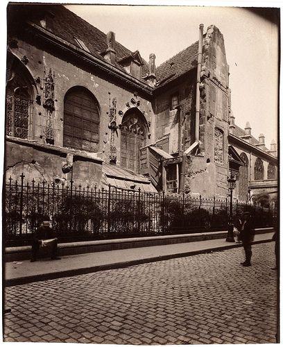 Coin Eglise St. Nicolas des Champs Rue Gunin Gridaine (3e arr) - Eugène Atget