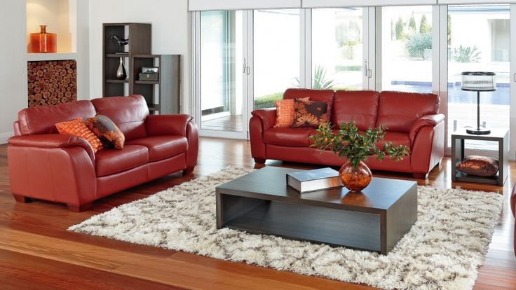 Alyssa 2 piece leather lounge suite lounges living for Leather living room suit