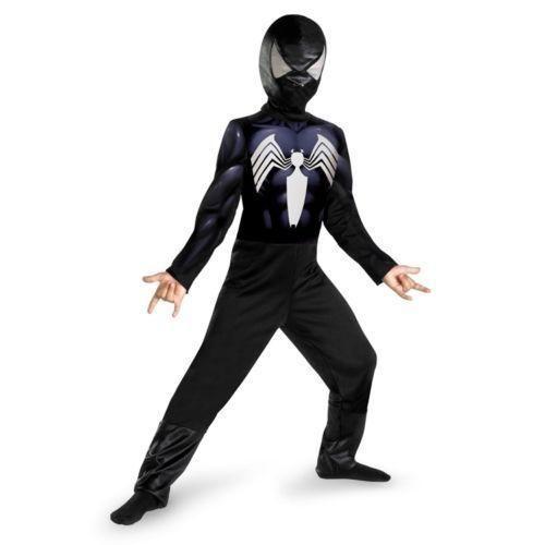 Black Spiderman Costume Halloween Dress Up Boys Large 10-12  New #spiderman #CompleteCostume