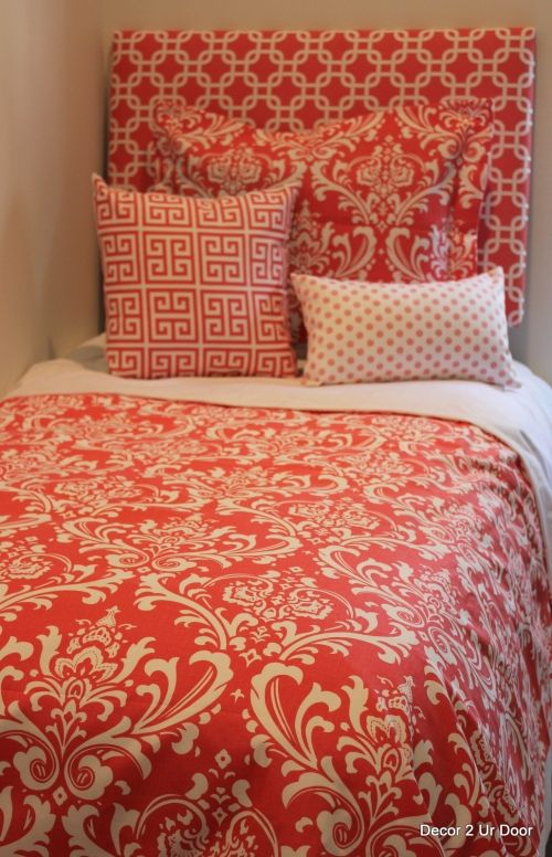 Join the Coral Dorm Room Bedding Craze! | Sorority and Dorm Room Bedding