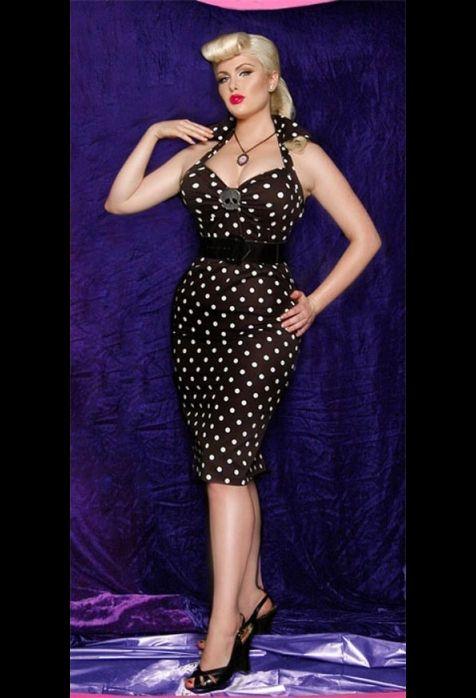 PinupDead Dame, Wiggle Dress, Polka Dots Dresses, Black And White, Dots Wiggle, White Polka, Dots Pop, Polkadot Dresses, Dreams Dresses