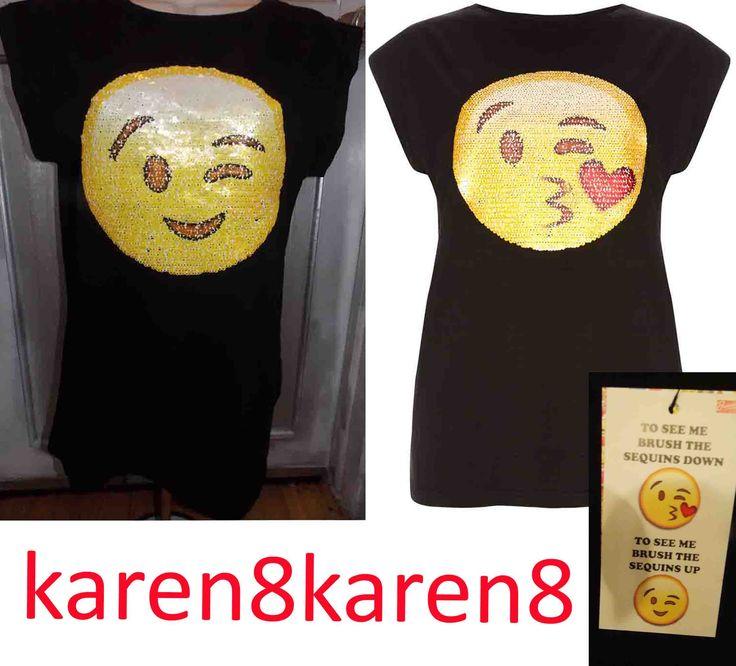 Smiley Emoji Sequin shirt on sale now at my ebay store karen8karen8