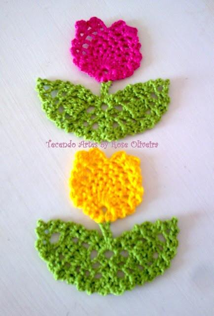Tecendo Artes em Crochet: Flores                                                                                                                                                                                 Mais