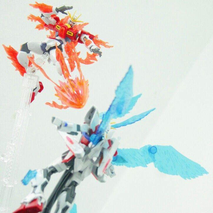Try Burning Gundam vs Plavsky Wing Gundam