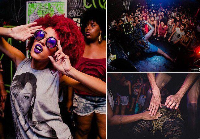 """Com um nome mega sugestivo, a Batekoo saiu lá de Salvador para dar uma agitada em São Paulo. Tida como a primeira festa para gays, lésbicas, travestis e transexuais negros, a noite baiana independente nunca mais foi a mesma depois dela. Focada em ritmos black como hip-hop, funk rap, R&B e kuduro, convida todo mundo pra dançar em baladas itinerantes. Porque ficar parado é inconveniente. Enquanto os norte-americanos pensam que são os verdadeiros donos do """"twerk"""", aquela rebolada de respeito…"""