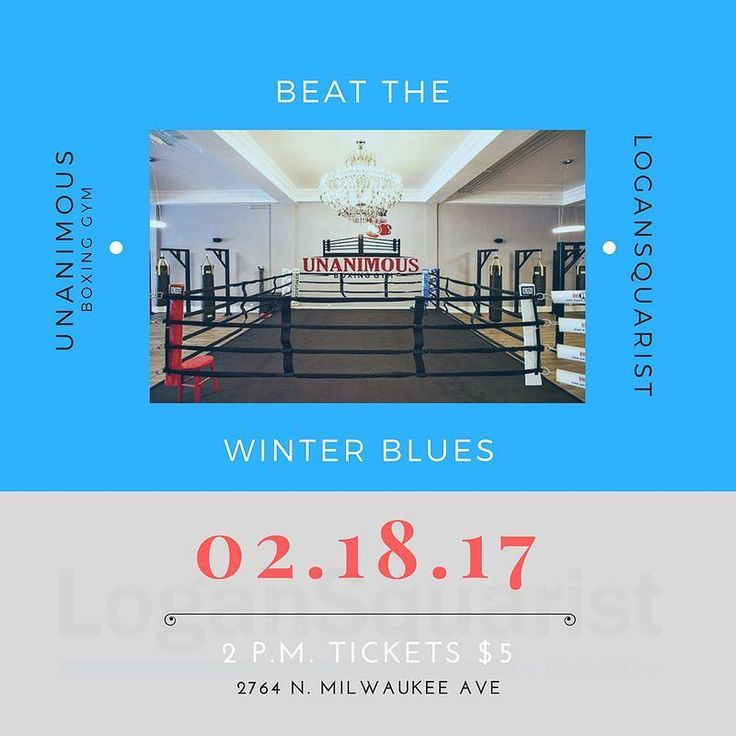Join us for this fun event at @unanimousboxing on 2/18 (2pm-3:30pm) Get ready to work up a sweat for an hour at your local boxing gym and break up the winter days. Light snacks and water will be provided. For $5 plus tax you don't want to miss this! Class size is capped at 30 so get your tickets quick!