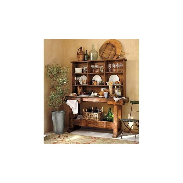 Markham console bar hutch pottery barn found on