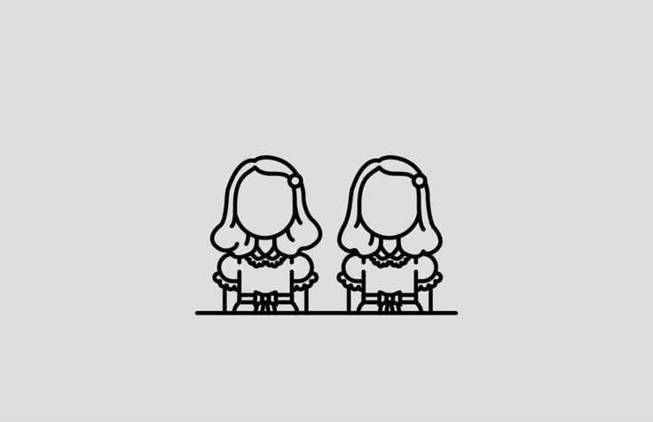 Twins from The Shining - Minimalist Horror