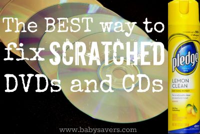 Step-by-step directions for the best and easiest way to fix scratched DVDs...with lemon Pledge!