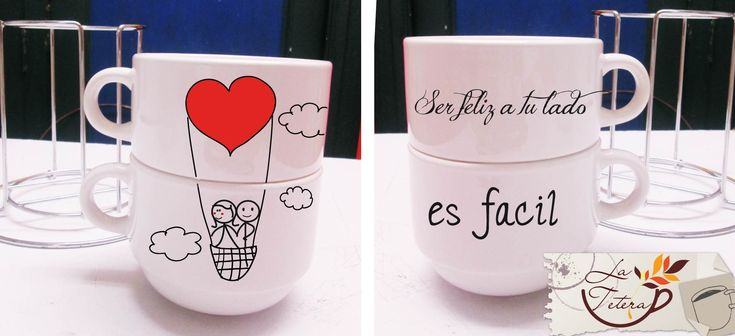 mugs apilables www.lateteramugs.com #mugs #tazas #cups