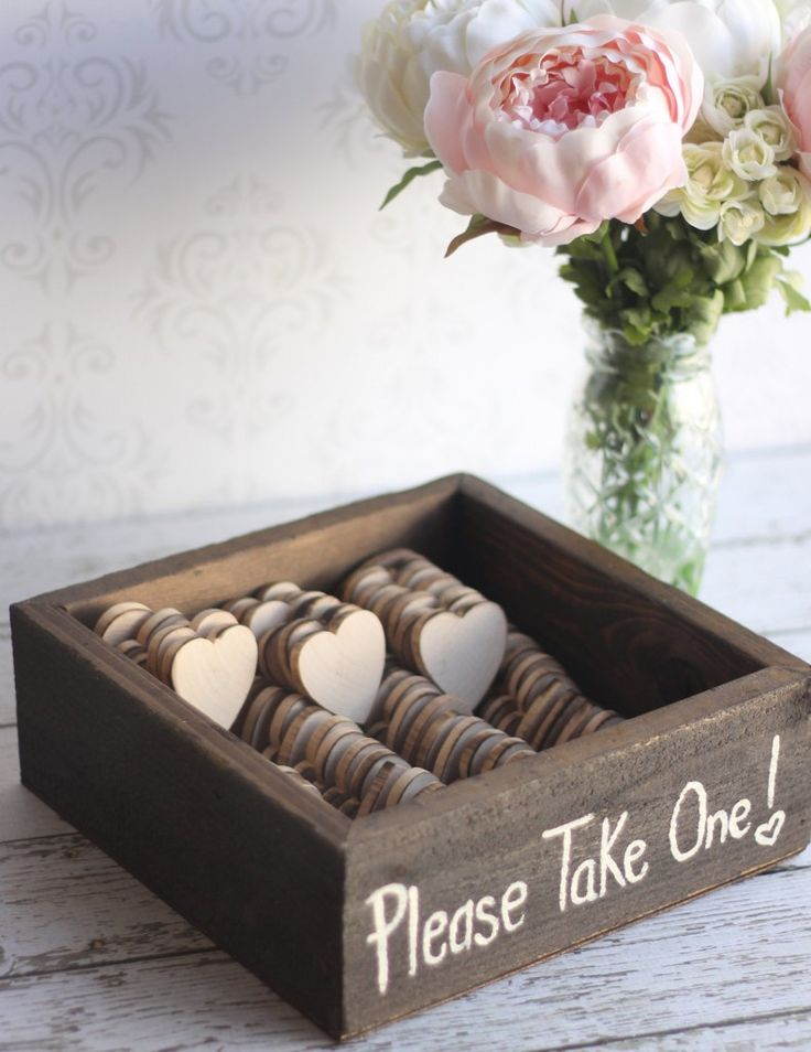 easy diy rustic wedding favors%0A Rustic Wedding Favors Wood Heart Magnets Vintage by braggingbags