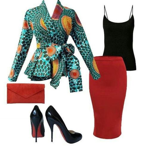 @diyanu : Here's some Diola Blazer inspiration for spring and summer looks. Bring out the red in the blazer with a red clutch, red skirt and red bottom shoes! Blazer Sale ➡️ www.diyanu.com Follow @diyanu for more #AnkaraStyles #africanfashion...