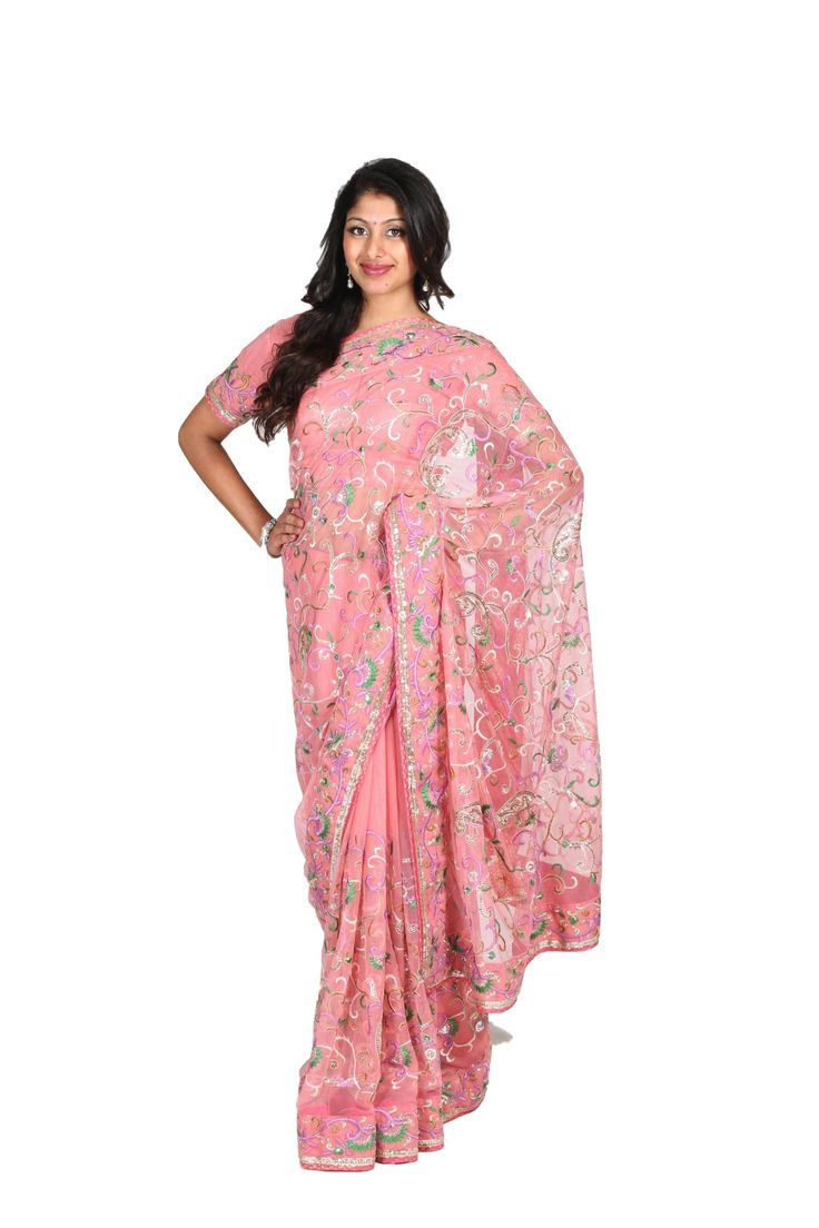 Neeta Lulla Powder Plush Saree