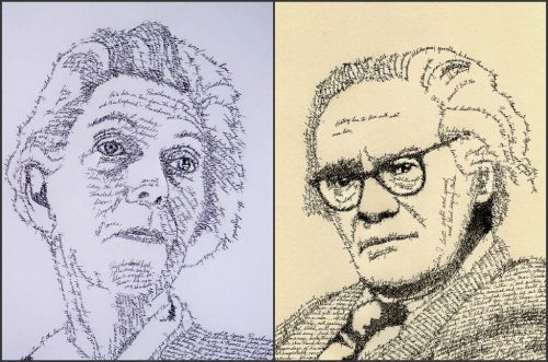Penmanship Portraits by John Sokol at LuLus.com!