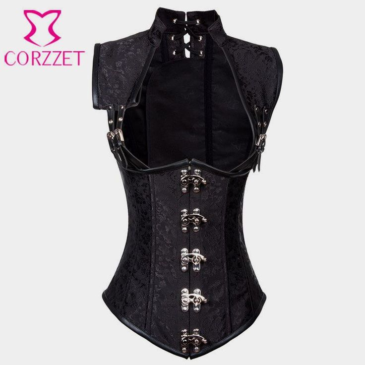 Black Brocade Collared Top Sexy Cupless Waist Trainer Vest Corset Gothic Waist Slimming Corsets Steel Boned Steampunk Clothing $34.71   => Save up to 60% and Free Shipping => Order Now! #fashion #woman #shop #diy  http://www.clothesgroup.net/product/black-brocade-collared-top-sexy-cupless-waist-trainer-vest-corset-gothic-waist-slimming-corsets-steel-boned-steampunk-clothing/