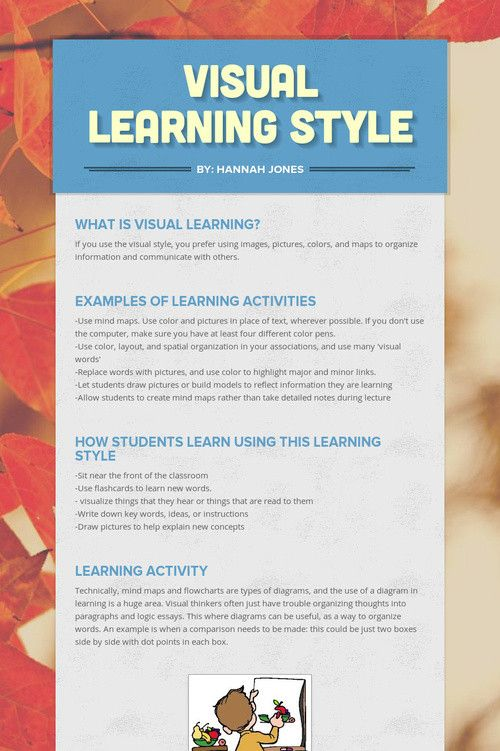 best multiple intelligences learning styles images  visual learning style
