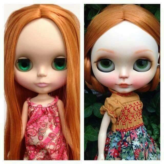 Antes e depois da custom