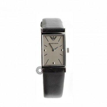 Γυναικείο κλασικό quartz ρολόι EMPORIO ARMANI ορθογώνιο με μαύρο δερμάτινο λουρί | Γυναικεία ρολόγια EMPORIO ARMANI στο κατάστημα ΤΣΑΛΔΑΡΗΣ στο Χαλάνδρι #Emporio #Armani #δερμα #λουρι #ρολοι