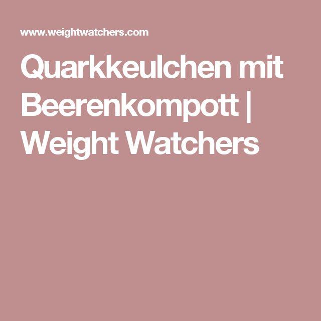 Quarkkeulchen mit Beerenkompott   Weight Watchers