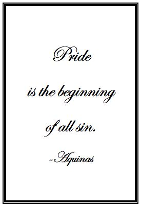 St. Thomas Aquinas Quote On Pride | Lord Help Me To Be Humble ❤️