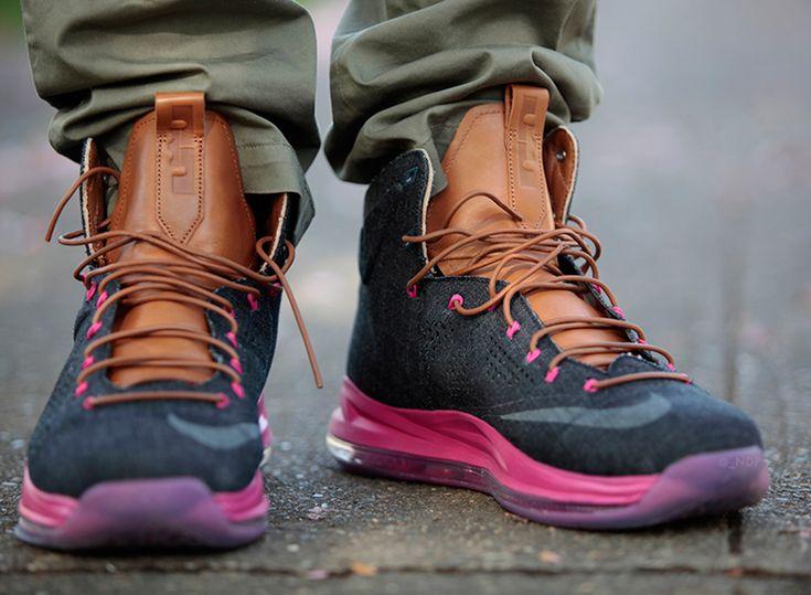 "Nike LeBron X EXT ""Denim"" - On-Feet Images"