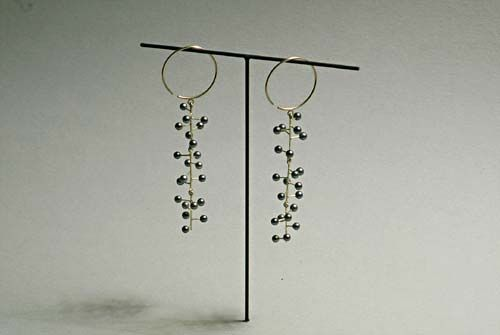 Ralph Bakker earrings: gold & pearls....DISPLAY MY 'SPECIAL' PIECE EARRINGS INDIVIDUALLY similar to this...my 'Lauren' earrings?