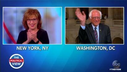 View's Joy Behar Slobbers Over Her 'Hot' 'Hero' Bernie Sanders