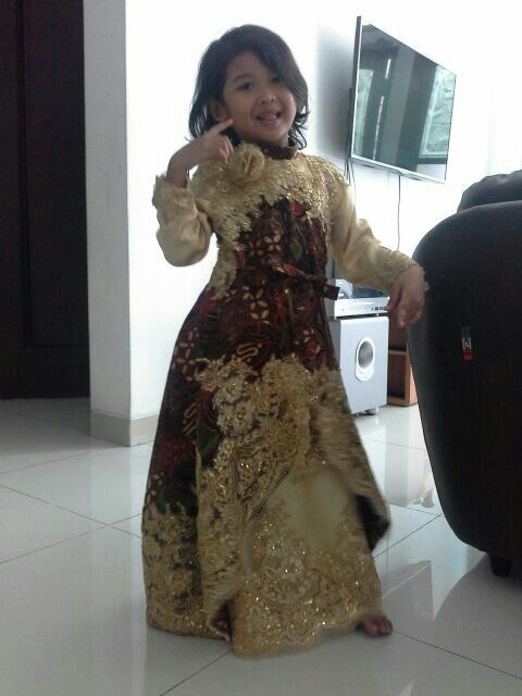 Batik Gown for kid, made by order