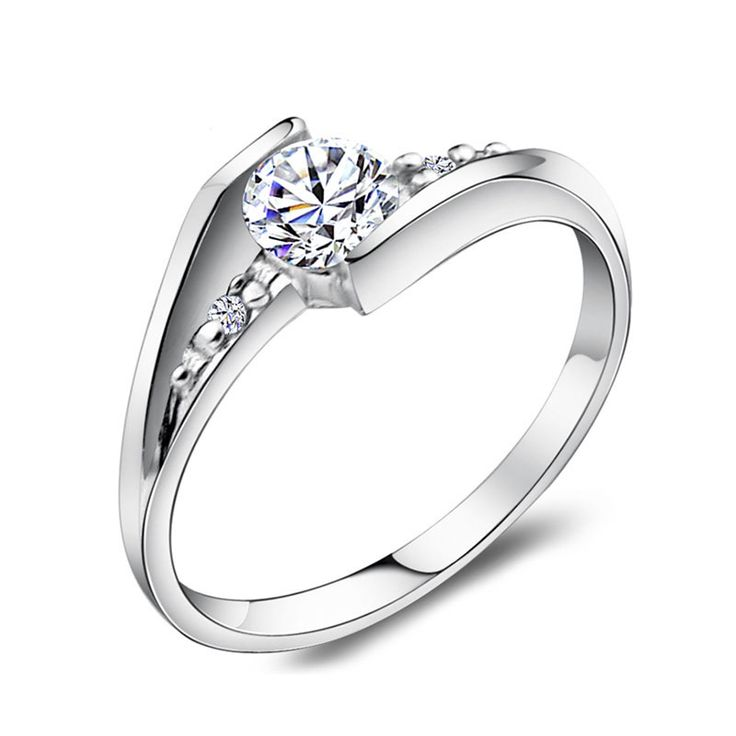 Cubic Zirconia Diamond Accents Engagement Rings for Women, Personalized Promise Ring in 925 Sterling Silver, Matching His and Hers Jewelry Set for Couples