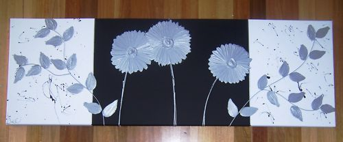 ORIGINAL-ABSTRACT-CANVAS-PAINTING-BLACK-WHITE-SILVER