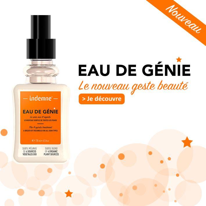 Eau de Génie, l'eau de soin pour toutes les peaux !   Le nouveau geste beauté Indemne !   https://www.indemne.fr/fr/nos-produits/52-eau-de-genie-le-soin-aux-4-esprits.html