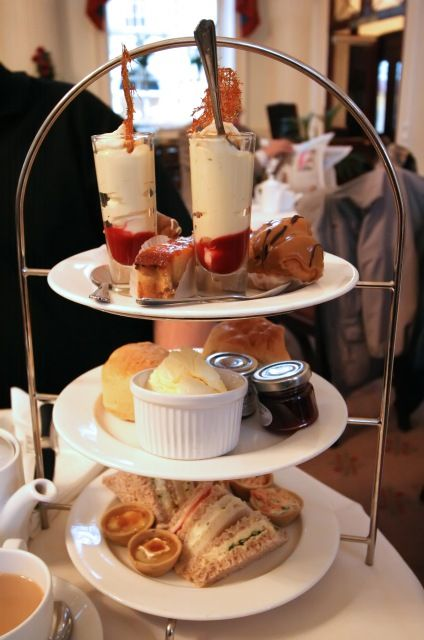 Here is a Pump Room Afternoon Tea server. We couldn't eat it all! But is was excellent!