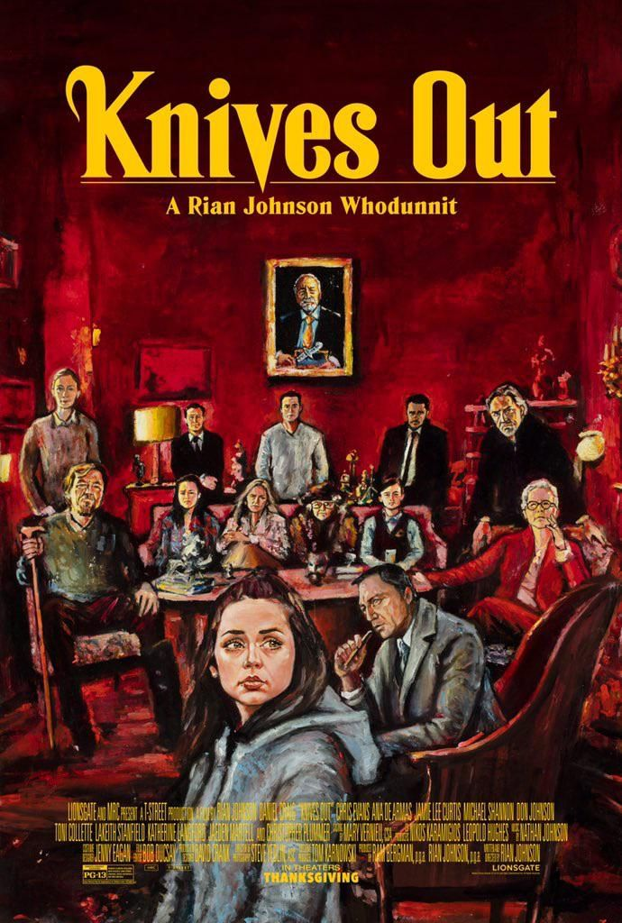 Knives Out 2019 By Zachary Johnson In 2020 Alternative Movie Posters Movie Posters Mystery Film
