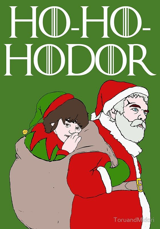 Ho-Ho-Hodor!   Game of Thrones Christmas cards, now available!