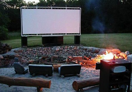Make Your own Drive-In Theater - 10 Essentials to Throw an Unforgettable Outdoor Party : http://www.wickerparadise.com/outdoor-party-essentials.html
