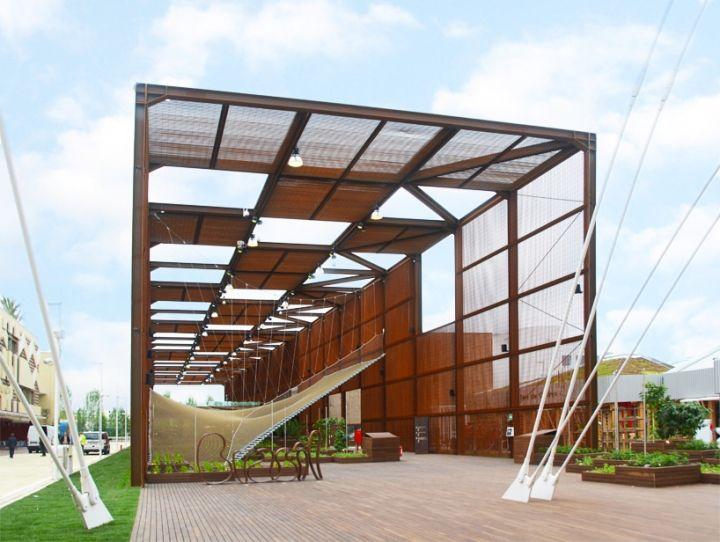 Padiglione Brasile all'Expo Milano 2015, una grande tensostruttura di rete