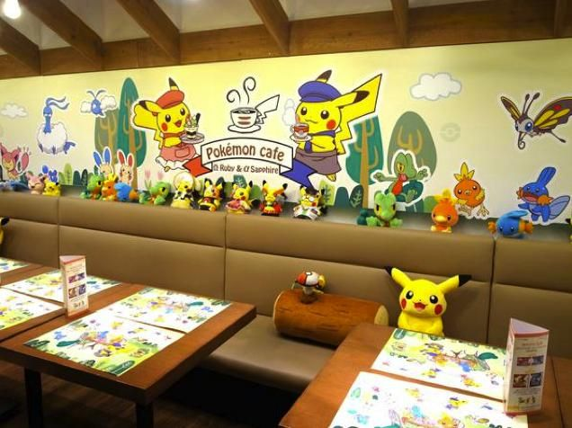 Pokémon Omega Ruby and Alpha Sapphire  Official Cafe at Tokyo's Shibuya- I think I'm going to have to make a bucket list