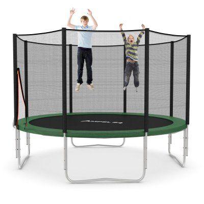 Klassik Trampolin Ø 366 cm mit Netz, grün, bis 160 kg
