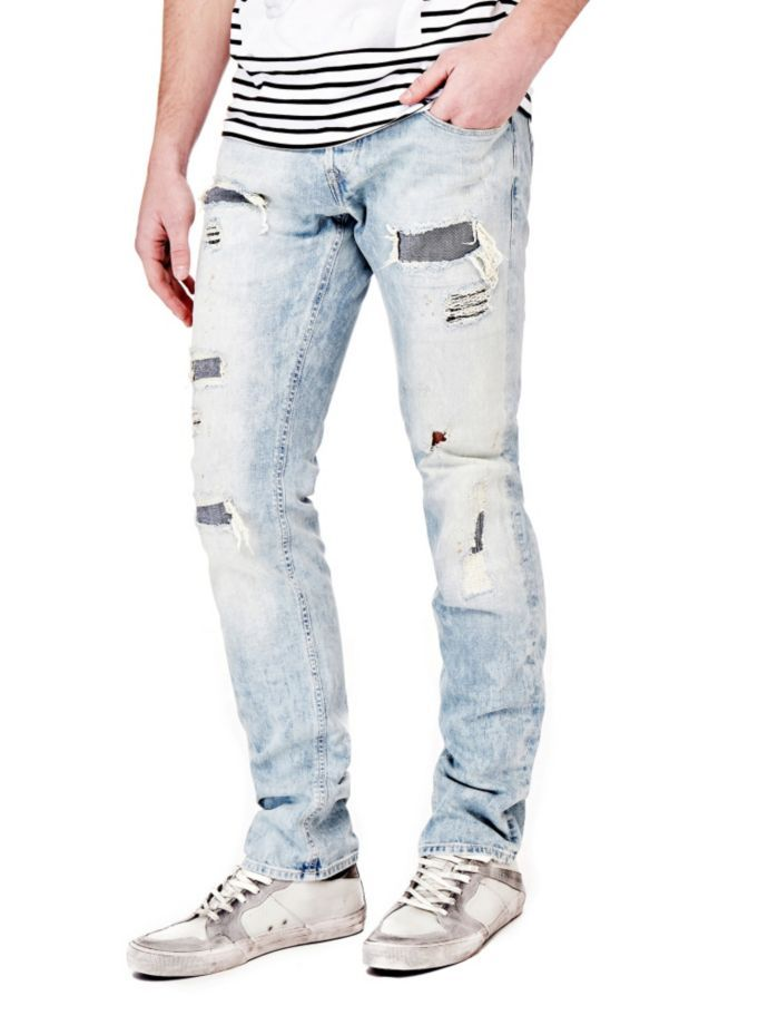 EUR129.90$  Watch now - http://viozt.justgood.pw/vig/item.php?t=e7p39rk38692 - COTTON JEANS WITH ABRASIONS