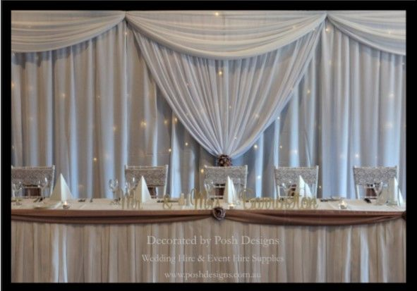 #whitebridalbackdrop #wedding #theming available at #poshdesignsweddings - #sydneyweddings #southcoastweddings #wollongongweddings #canberraweddings #southernhighlandsweddings #campbelltownweddings #penrithweddings #bathurstweddings #illawarraweddings  All stock owned by Posh Designs Wedding & Event Supplies – lisa@poshdesigns.com.au or visit www.poshdesigns.com.au or www.facebook.com/.poshdesigns.com.au #Wedding #reception #decorations #Outdoor #ceremony decorations