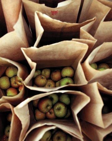 bags of apples <3   photo by Gabriela Herman