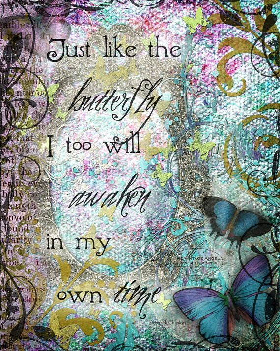 MY OWN TIME hope healing art print by TheVictorianGarden on Etsy, $10.00