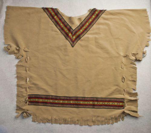 child's AMERICAN INDIAN COSTUME smock THANKSGIVING REENACTMENT w/ headband