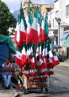 On September 16, 1810, Father Miguel Hidalgo y Costilla rang the bell of Dolores, Guanajuarto, to signal a revolution. They eventually won independence from Spain in 1821. This day is now one of the most important festivals in Mexico.The whole month is dedicated to this holiday. The people of Mexico decorate their whole town in red, green, and white to celebrate their independence.  #3B