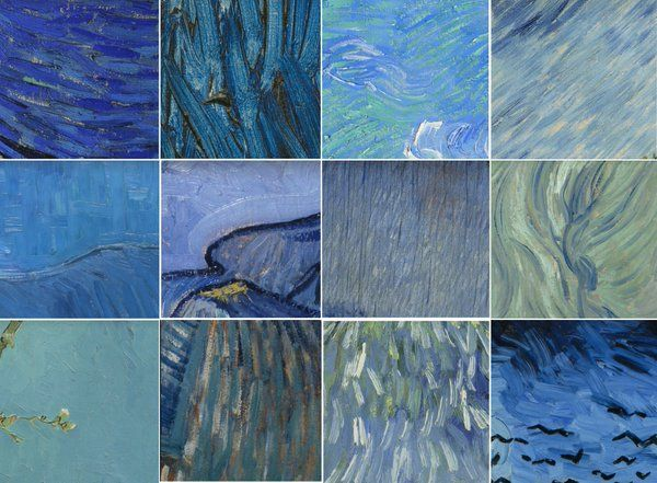 Van Gogh Mavileri &&  Kobalt, Çivit, Pers mavisi, Kraliyet mavisi, Gök mavisi, Gece mavisi, Prusya mavisi...♥♥♥  Van Gogh Blues && Cobalt, indigo, Persian blue, royal blue, sky blue, Night blue, Prussian blue ...