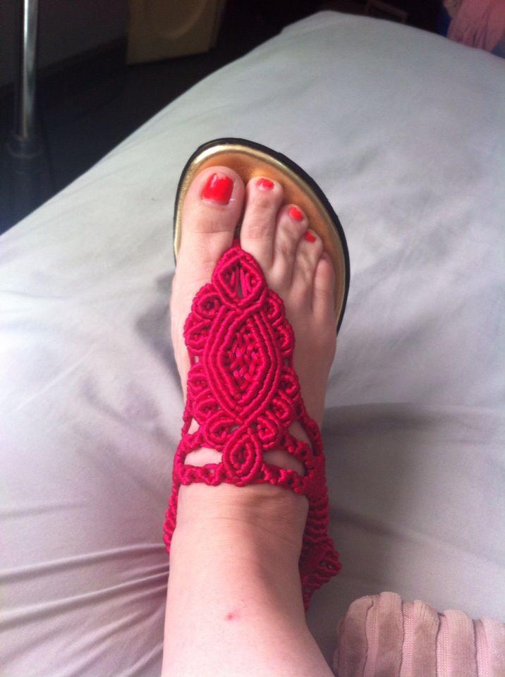 Sandalias artesanales de macramé