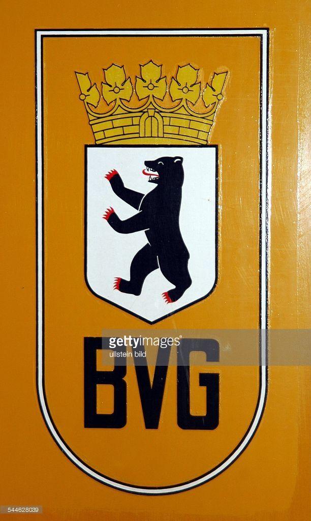 Deutschland, Berlin, Historisches Logo der BVG Berliner Verkehrsbetriebe aus den 30er Jahren