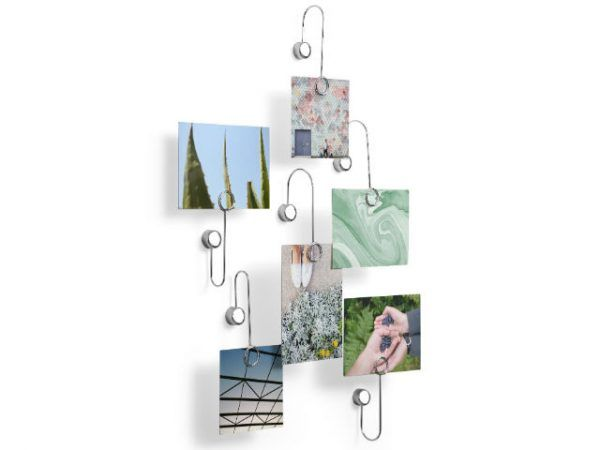 Umbra Cubist Wandrek : Umbra phantom multi photo display chrome piece home display it