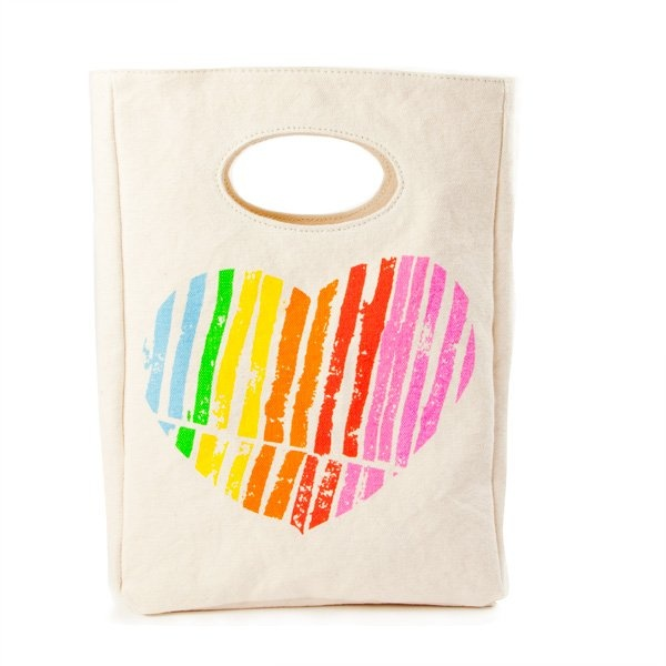 Fluf Organic Cotton Lunch Bag - I Heart You! $29.95 each. Show your loved one what a 'sweet heart' they are :)